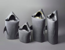 about shark felt baskets