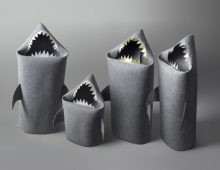 shark felt baskets